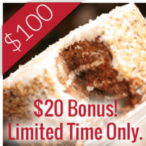 $100 Gift $20 Bonus